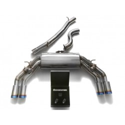 Ligne d'échappement Armytrix avec Valve électronique Audi TT(8S) TTS 2.0 TFSI Quattro 310cv 2014 - Aujourd'hui Quad Blue