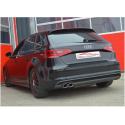 Ligne d'échappement Inox Audi A3 (8V) Sportback 1.8L TFSI (132KW/180CV) 2012 -2018